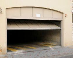 Tip up garage doors